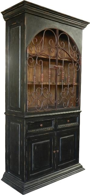 Domino Antique Black Armoire