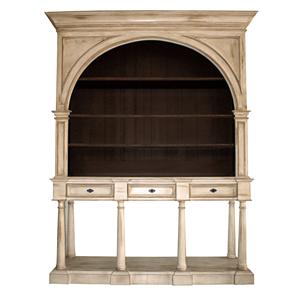 Ordinaire Furniture Source International Biltmore   White Arched Bookcase