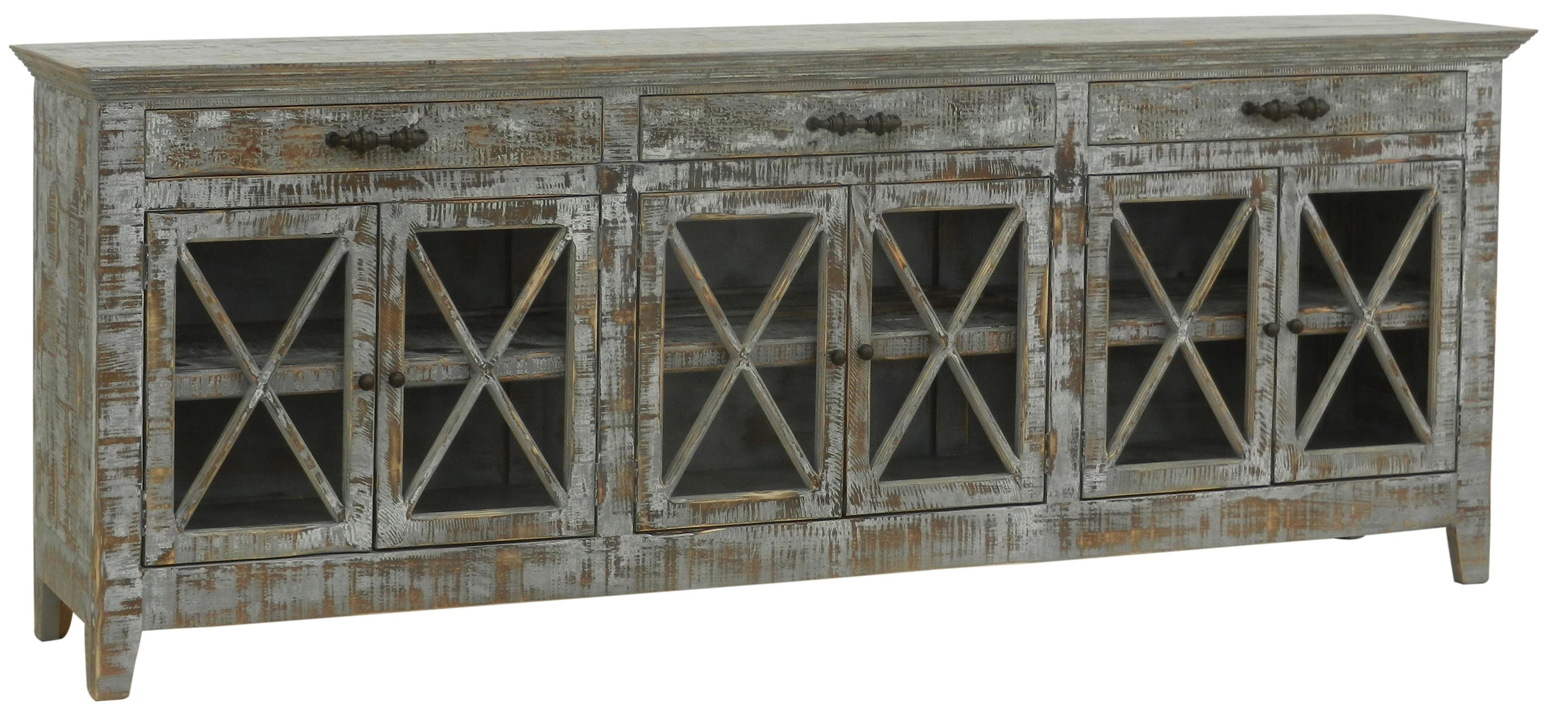 Furniture Source International Consoles Butlers Media Console - Item Number: FSI-FER-474CON-FARMHOUSE-BLUE