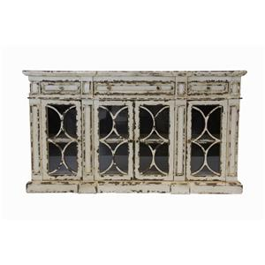 Furniture Source International Consoles Indus Antique White Console