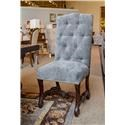 Furniture Source International Aurora Tufted Velvet Dining Chair - Item Number: CHESTNUT-LACQNANTES-PRO-TC-GRAPHITO