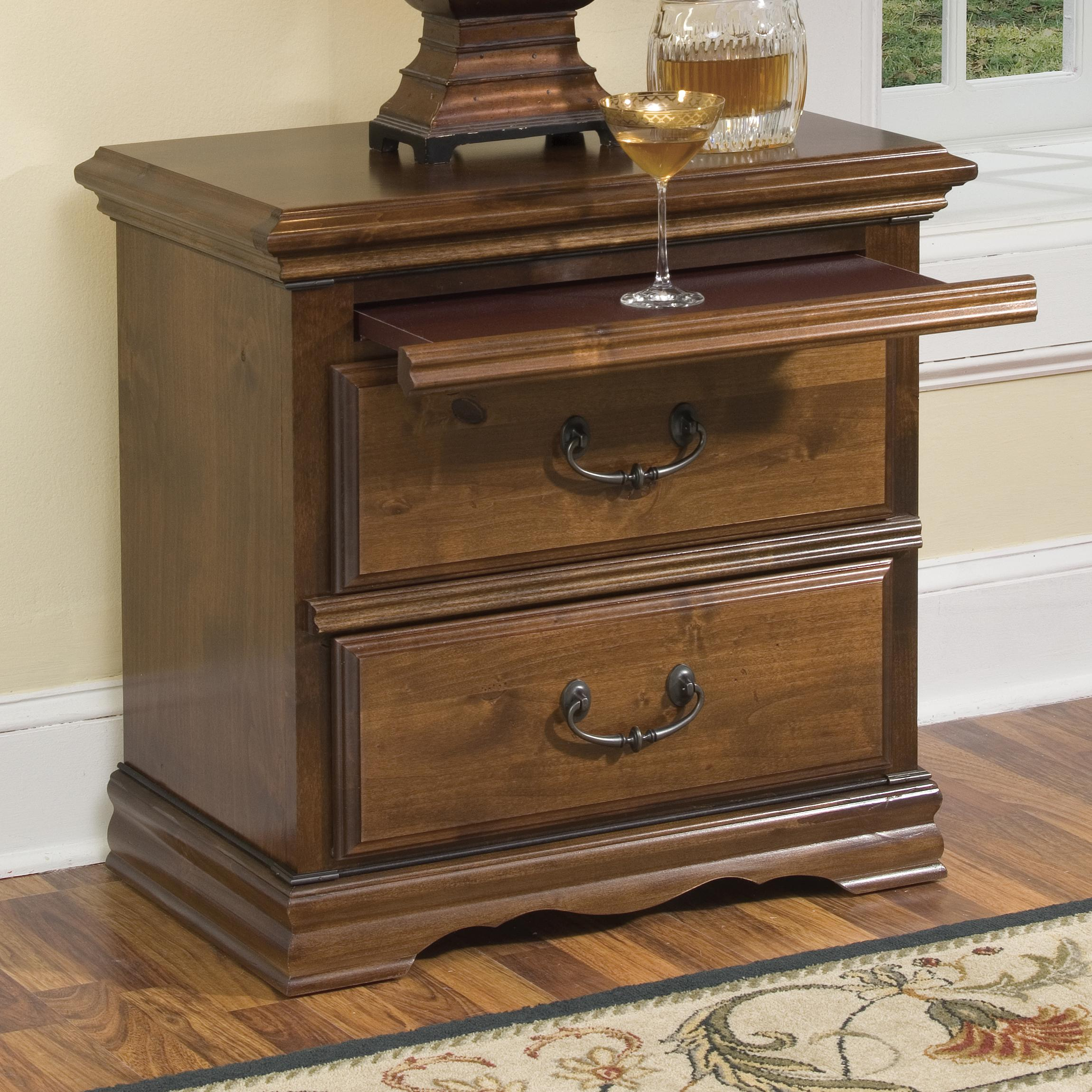 Furniture Traditions Alder Hill 2-Drawer Night Stand - Item Number: A2125