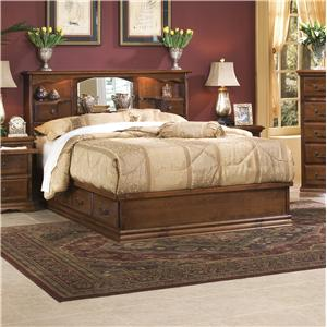 Furniture Traditions Alder Hill Queen Artistan Headboard Bed with Pedestal