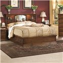 Furniture Traditions Alder Hill Queen Artistan Headboard Bed with Pedestal - Item Number: A275+A611