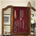 Furniture Traditions Alder Hill Beveled Wing Mirror - Hidden Jewelry Storage