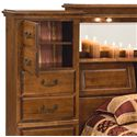 Furniture Traditions Alder Hill Queen Traditional Mid Wall Storage Bed - Cedar Lined Storage Compartments