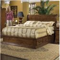 Furniture Traditions Alder Hill Queen Sleigh Headboard Bed with Pedestal - Item Number: A701+A611