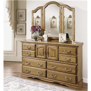 Furniture Traditions Master-Piece Master-Piece Dresser & Treasures Wing Mirror