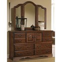 Furniture Traditions Master-Piece Master-Piece Dresser & Treasures Wing Mirror - Item Number: 2000PD+3500PD