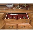 Furniture Traditions Master-Piece 10 Drawer and 2 Door Dresser with Locking Jewelry Drawer - Detail of Jewelry Storage. Shown in Medium Finish.
