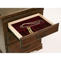 Furniture Traditions Master-Piece Right Facing 3 Drawer Nightstand - Detail of Jewelry Tray (Shown in Muscovado Finish)