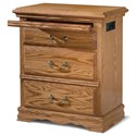 Furniture Traditions Master-Piece 3-Drawer Nightstand Left - Item Number: 2136