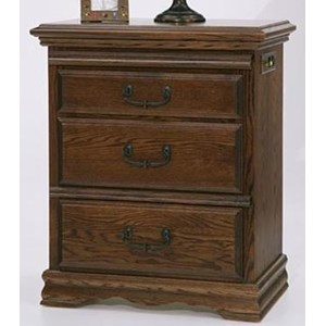 Furniture Traditions Master-Piece 3-Drawer Nightstand Left