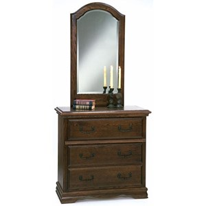 Furniture Traditions Master-Piece 3-Drawer Chest & Beveled Mirror