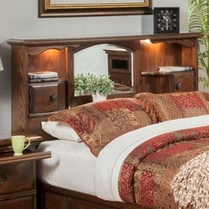 Furniture Traditions Master-Piece King/Cal King Nostalgia Bookcase Headboard
