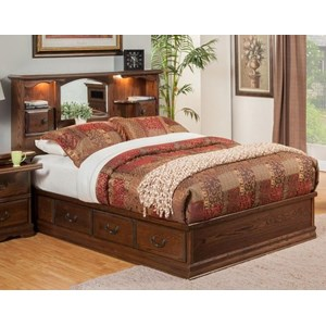 Furniture Traditions Master-Piece Queen Nostalgia Bookcase Bed