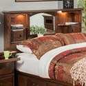 Furniture Traditions Master-Piece Queen/Full Nostalgia Bookcase Headboard - Item Number: 275Q-FPD
