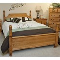Furniture Traditions Master-Piece Cal King American 4-Poster Bed - Item Number: 325CKM+10443