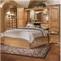 Furniture Traditions Master-Piece Queen Pier Bed Group  - Item Number: 605+610