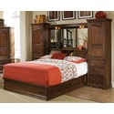 Furniture Traditions Master-Piece Queen Pier Bed Group  - Item Number: 605QPD+611QPD