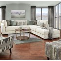 VFM Signature 02-31 3-Piece Sectional with Ottoman - Item Number: 02-03+2x31L-Honor Almond