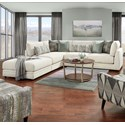 VFM Signature 02-31 3-Piece Sectional with Ottoman - Item Number: 02-03+2x31R-Honor Almond