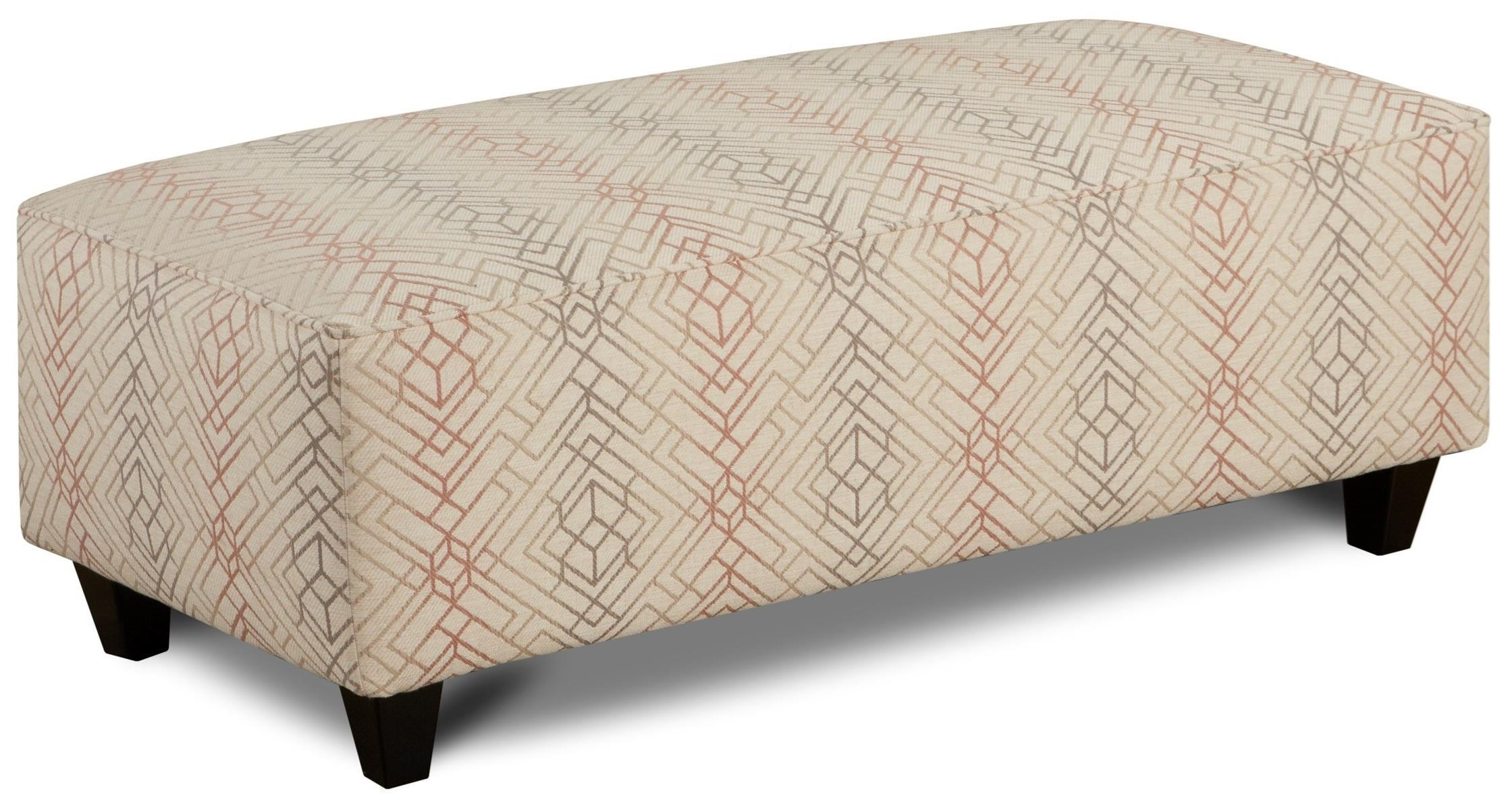 Fusion Furniture 100 Ottoman - Item Number: 100Argentine Blush