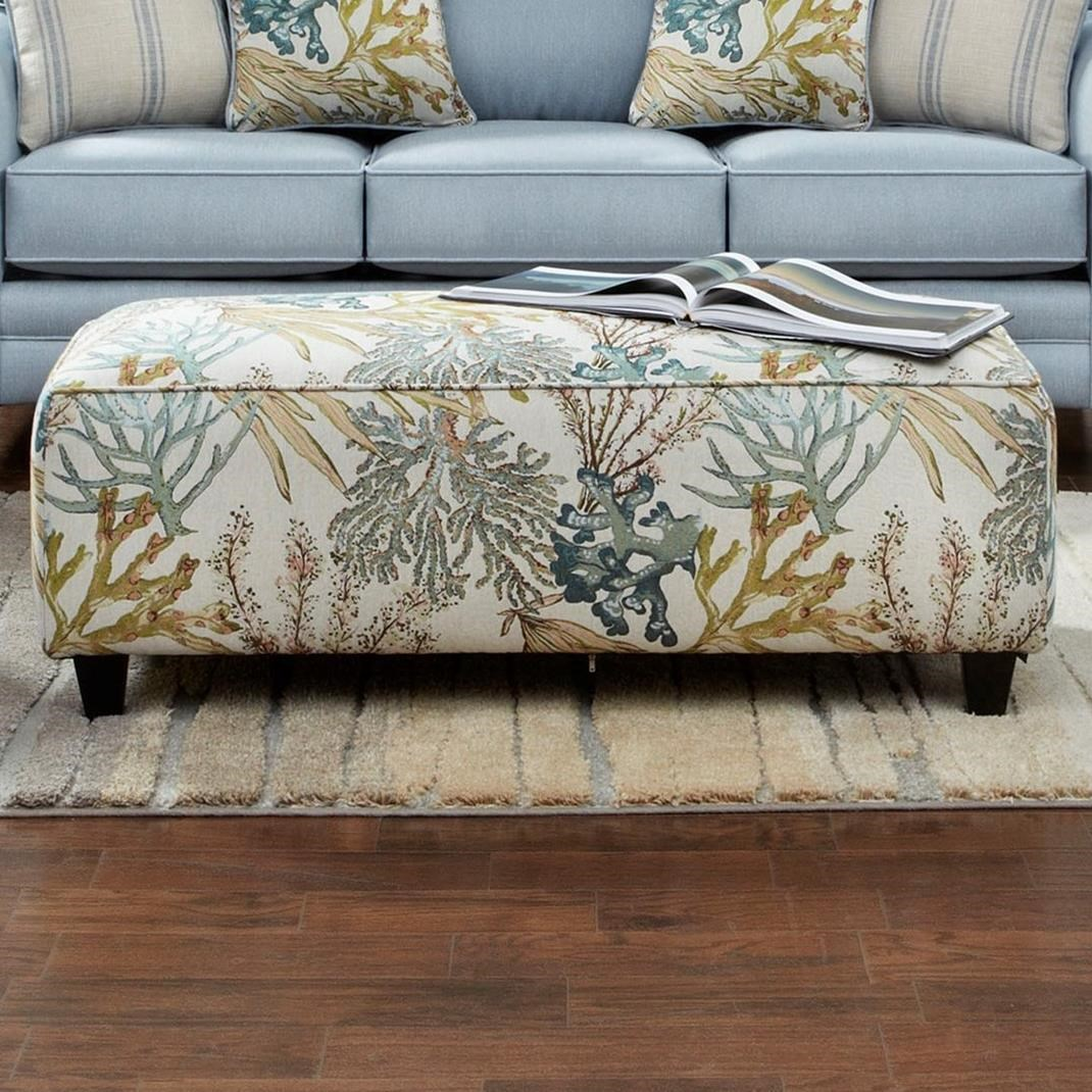 VFM Signature 100 Ottoman - Item Number: 100Coral Reef Carribean