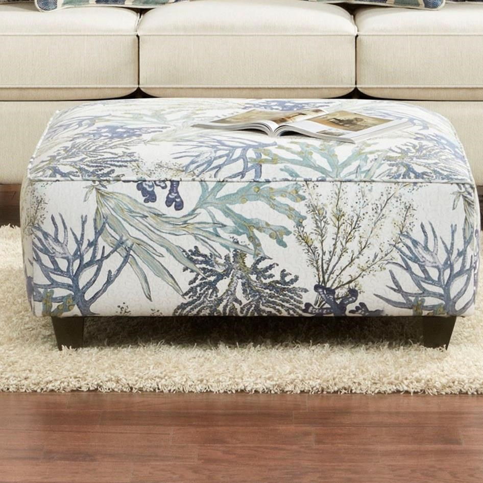 Fusion Furniture 100 Ottoman - Item Number: 100Coral Reef Oceanside
