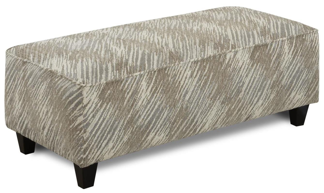 Fusion Furniture 100 Ottoman - Item Number: 100Desert Retreat Stone