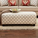 Fusion Furniture 100 Ottoman - Item Number: 100Enhance Linen