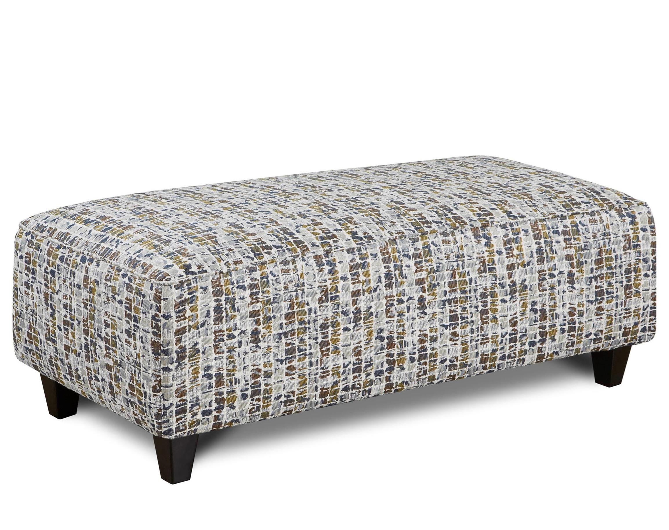 Fusion Furniture 100 Ottoman - Item Number: 100Highrise Marine