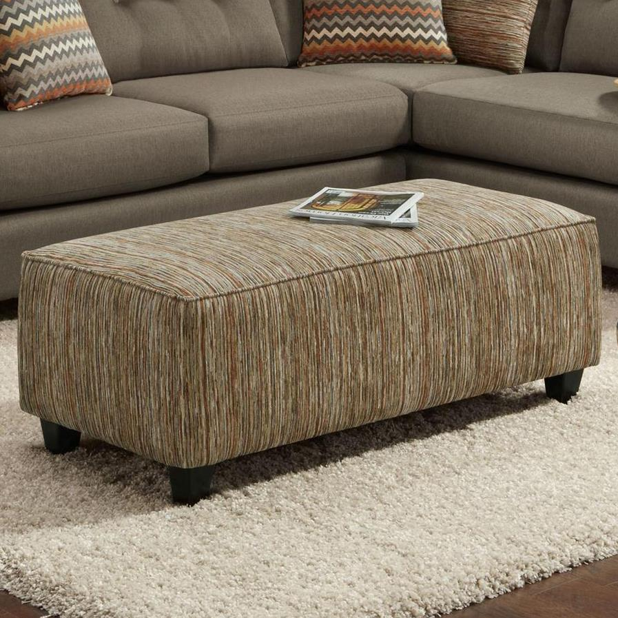 Fusion Furniture 100 Ottoman - Item Number: 100Kinetic Haze