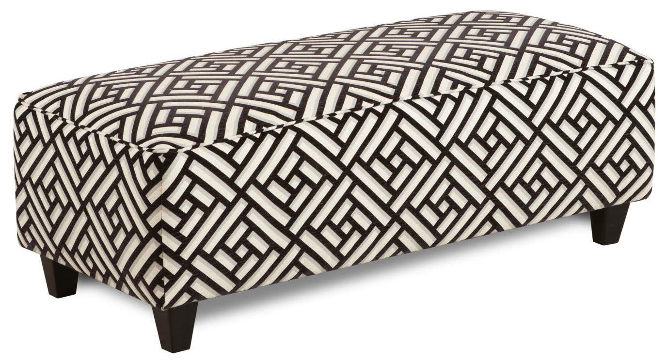 Fusion Furniture 100 Ottoman - Item Number: 100Simpatico Ebony