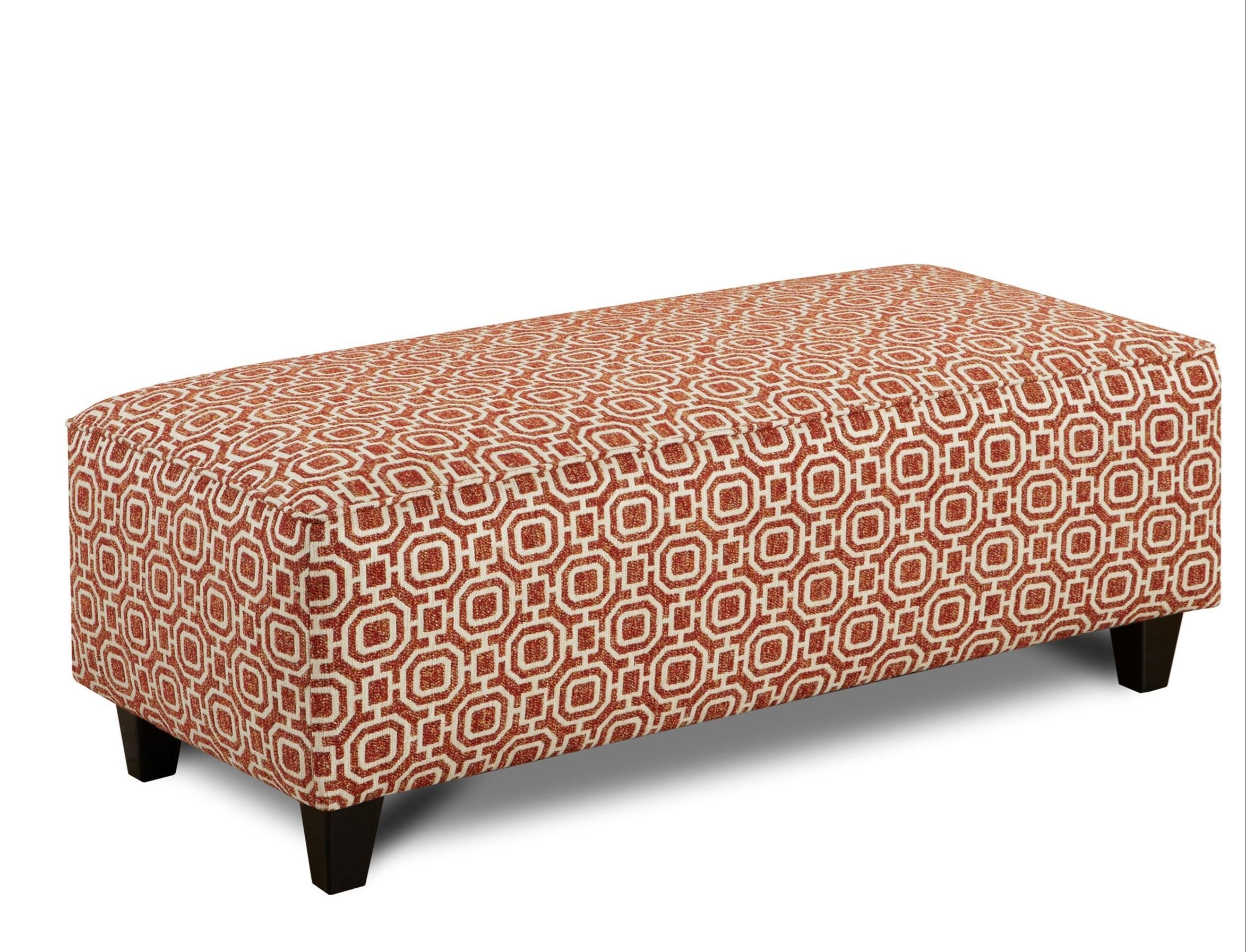 Fusion Furniture 100 Ottoman - Item Number: 100Stratos Paprika