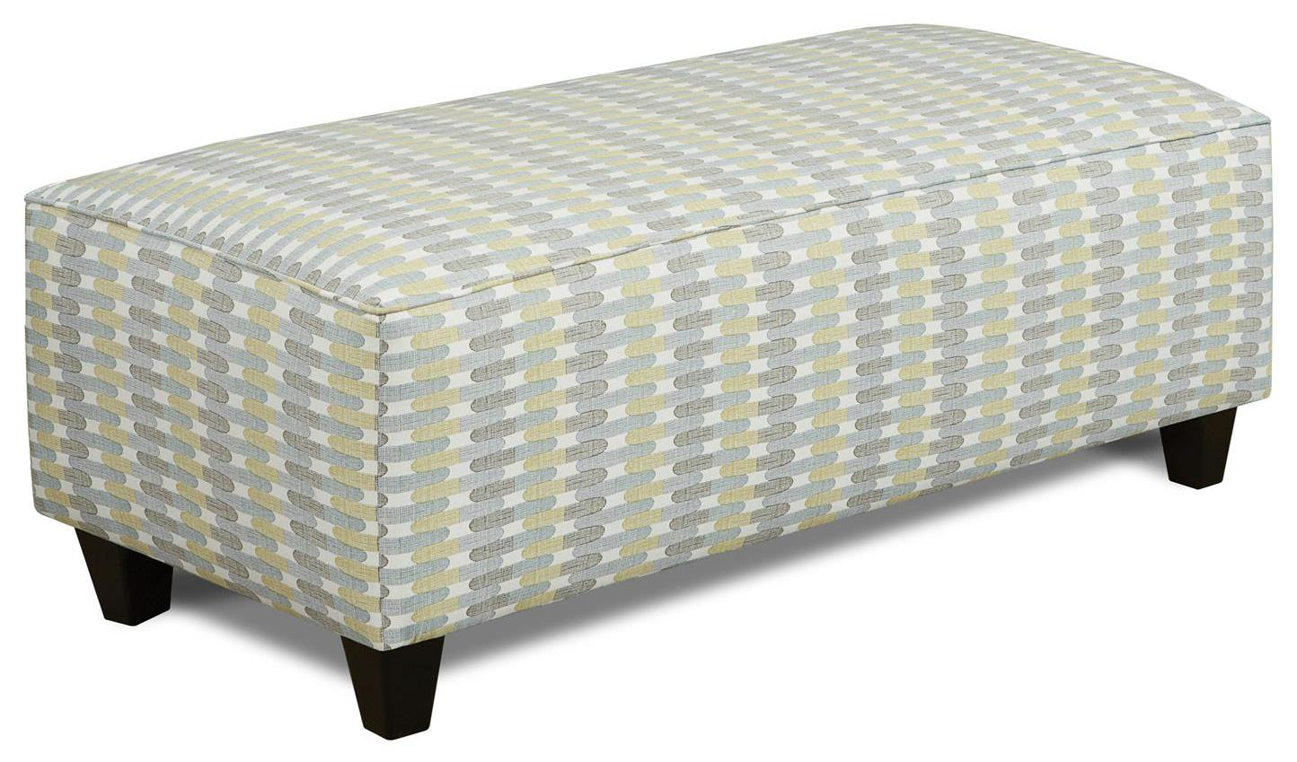 Fusion Furniture 100 Ottoman - Item Number: 100Textured Tiles Rain