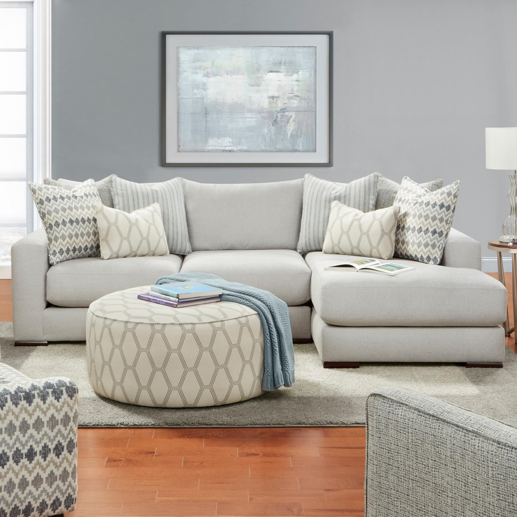 1050-20 2-Piece Sectional with Right Chaise by FN at Lindy's Furniture Company