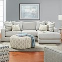 Fusion Furniture 1050-20 2-Piece Sectional with Right Chaise - Item Number: 1050-21L+26RBraxton Fog