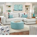 Fusion Furniture 1050-20 2-Piece Sectional with Right Chaise - Item Number: 1050-21L+26RGradin Dove
