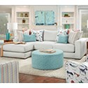 Powell's V.I.P. 1050-20 2-Piece Sectional with Left Chaise - Item Number: 1050-26L+21RGradin Dove