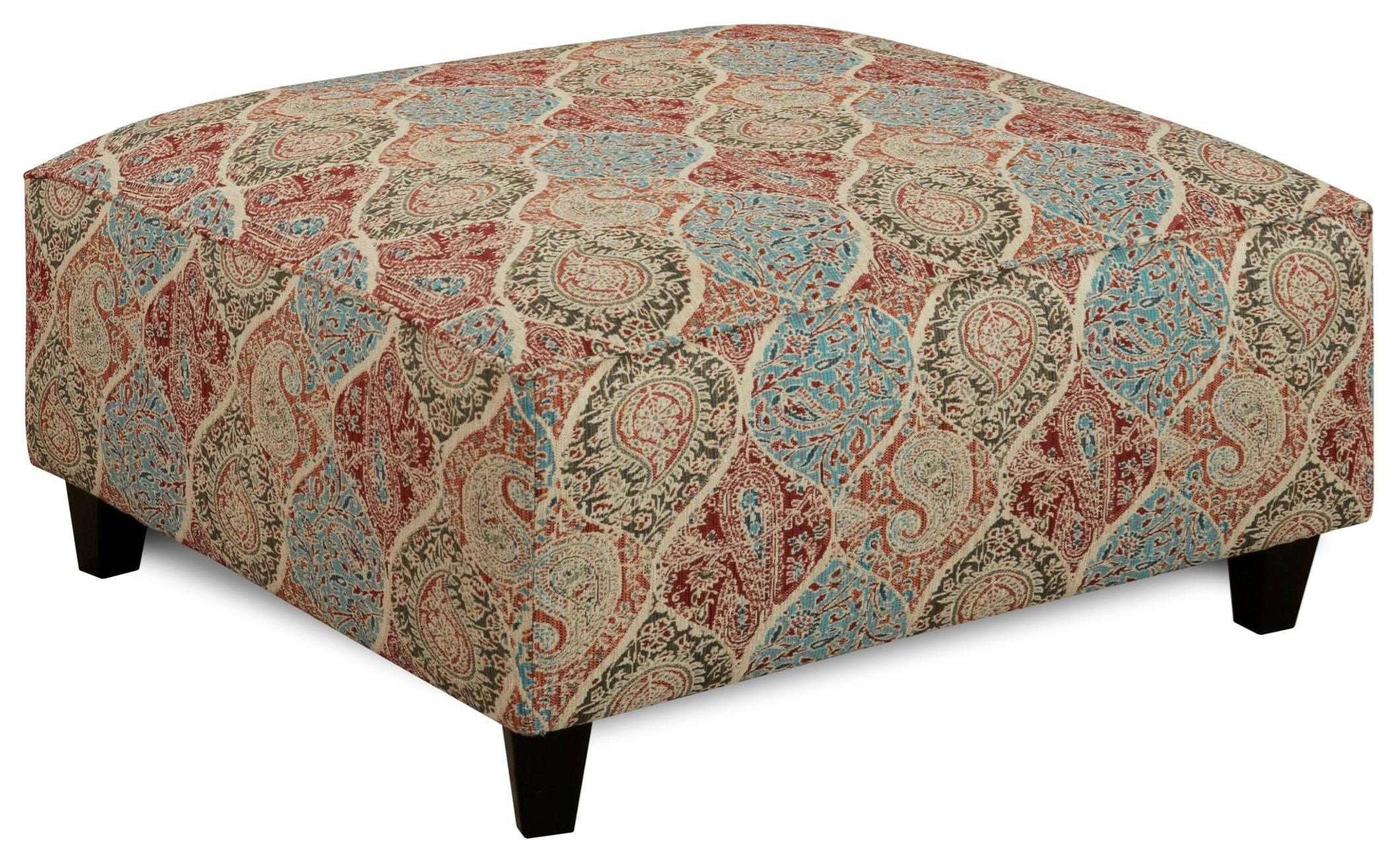 Fusion Furniture 109 Square Ottoman - Item Number: 109Biltmore Heather