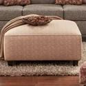 Fusion Furniture 109 Square Ottoman - Item Number: 109Bridget Rust