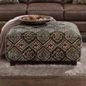 Fusion Furniture 109 Square Ottoman - Item Number: 109Cartouce Stone