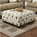 Fusion Furniture 109 Square Ottoman - Item Number: 109Crossbow Santa Fe