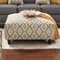 Fusion Furniture 109 Square Ottoman - Item Number: 109Doozie Dijon