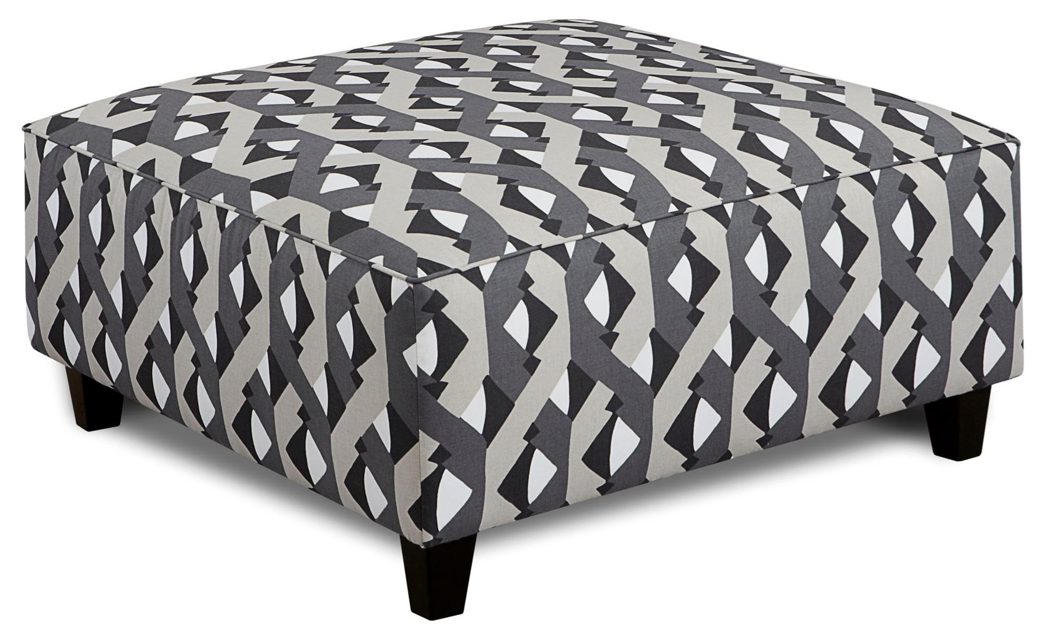 Fusion Furniture 109 Square Ottoman - Item Number: 109Dover Street Graphite