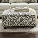 Fusion Furniture 109 Square Ottoman - Item Number: 109Dutch Charcoal