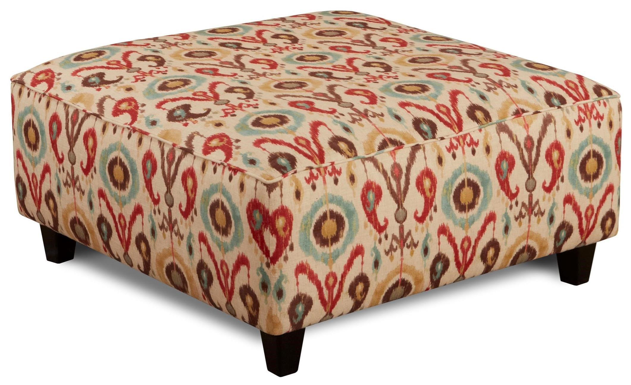 Fusion Furniture 109 Square Ottoman - Item Number: 109Holiday Persian