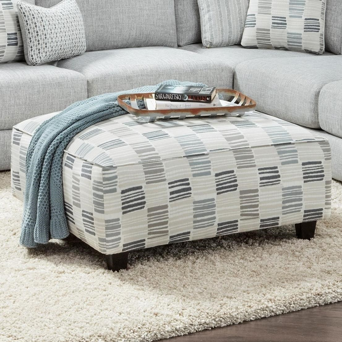109 Square Ottoman by Fusion Furniture at Miller Waldrop Furniture and Decor