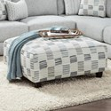 Fusion Furniture 109 Square Ottoman - Item Number: 109Microchip Denim